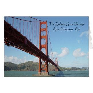 The Golden Gate BridgeSan Francisco, Ca Greeting Card