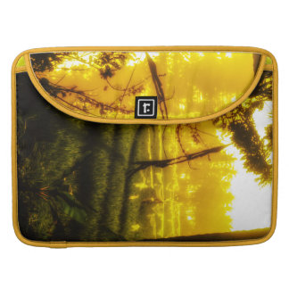 The Golden Glow of Late Afternoon on Balinese Rice Sleeve For MacBook Pro