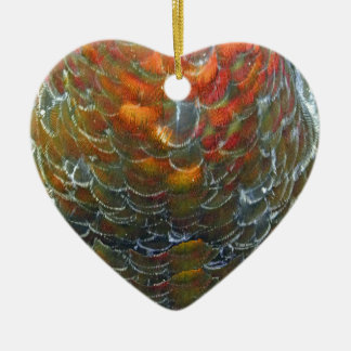 The Golden Goose Ceramic Heart Decoration