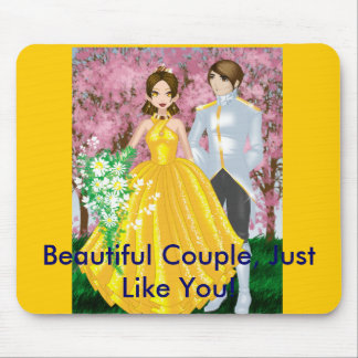 The Golden Love Birds, Beautiful Couple, Just L... Mouse Pad