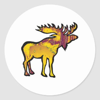 The Golden Moose Classic Round Sticker