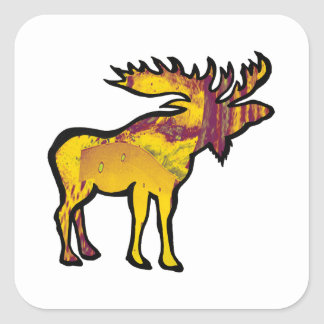 The Golden Moose Square Sticker