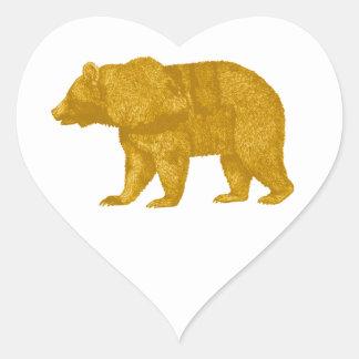 THE GOLDEN ONE HEART STICKER