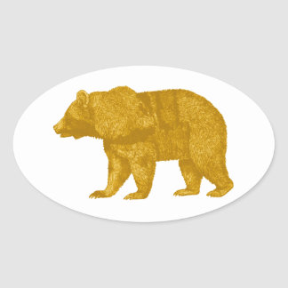 THE GOLDEN ONE OVAL STICKER