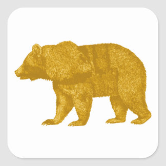 THE GOLDEN ONE SQUARE STICKER