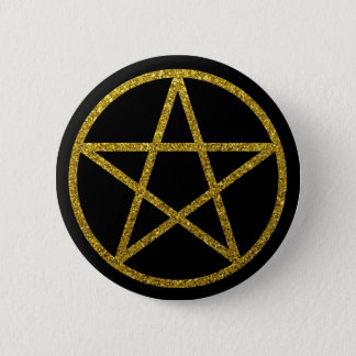 The Golden Pentacle 6 Cm Round Badge