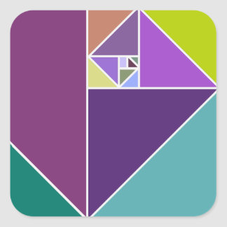 The Golden Ratio Square Sticker