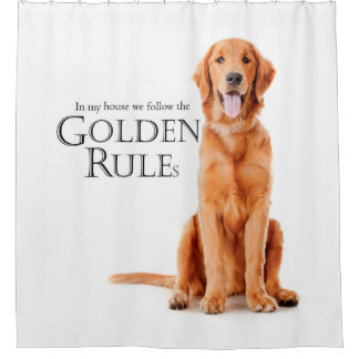 The Golden Rules Shower Curtain
