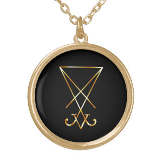 The golden sigil of Lucifer Gold Plated Necklace