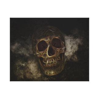 The Golden Skull Canvas Print