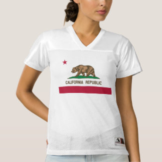 The Golden State Flag of California Women's Football Jersey