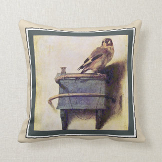 The Goldfinch by Carel Fabritius Cushion