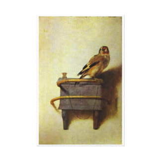 The Goldfinch Painting 17th Century Canvas Print