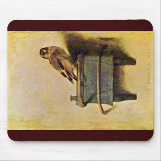The Goldfinch., Puttertje  By Carel Fabritius Mouse Pad