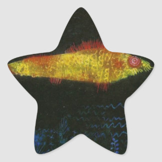 The Goldfish by Paul Klee Star Sticker