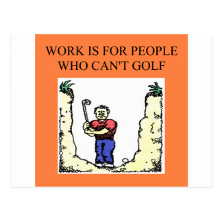 the golfer post card