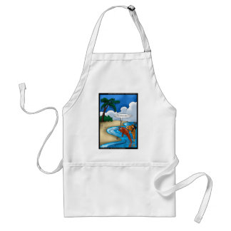The Golfing Fish Funny Tees Cards & Other Gifts Standard Apron