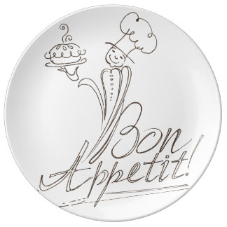 The Good Chef says Bon Appetit! Plate