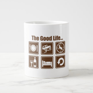 The good life large coffee mug