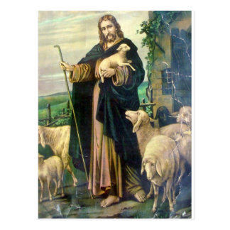 THE GOOD SHEPHERD 2 c 1900 Post Card