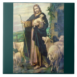 THE GOOD SHEPHERD EVERGREEN BACKGROUND TILE