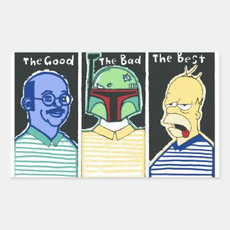 The Good The Bad The Best Rectangular Sticker