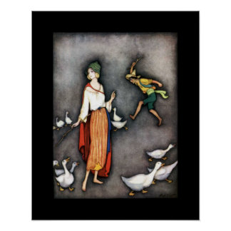 The Goose Girl ~ Fairy Tales ~ Bedtime Story ~ Poster