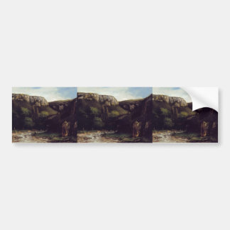 The Gorge by Gustave Courbet Bumper Sticker