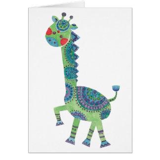 The Gorgeous Green Giraffe Card