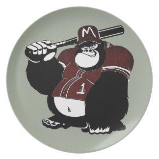 The Gorilla Baseball Club Dinner Plate