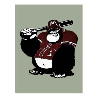 The Gorilla Baseball Club Postcard