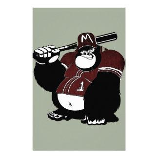 The Gorilla Baseball Club Stationery