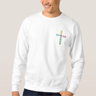 The Gospel Cross Embroidered Sweatshirt