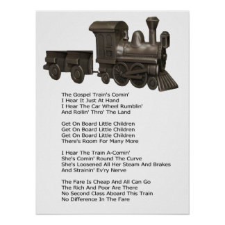 THE GOSPEL TRAIN-POSTER-WITH SONG LYRICS POSTER