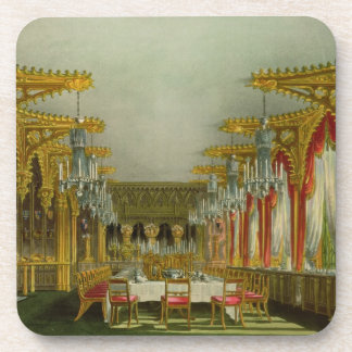 The Gothic Dining Room at Carlton House from Pyne' Drink Coasters