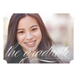 The Graduate Elegant Script Graduation Announcemen Card