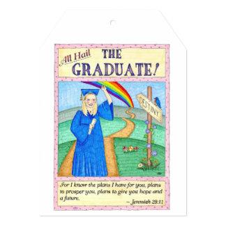 "The Graduate Graduation Card and Gift Tag 5"" X 7"" Invitation Card"