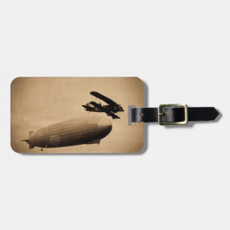 The Graf Zeppelin Approaching New York City 1928 Luggage Tag
