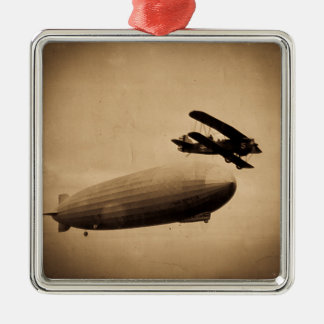The Graf Zeppelin Approaching New York City 1928 Metal Ornament