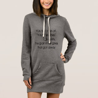 The grammar geek that got away hoodie