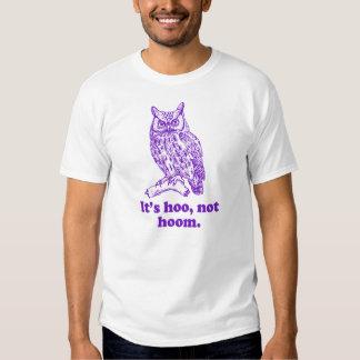 The Grammar Owl Hoo not Hoom Tee