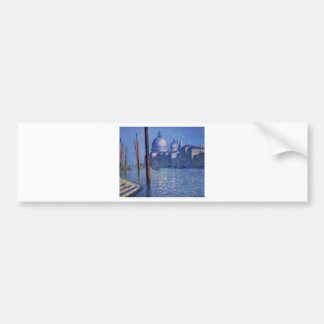 The Grand Canal by Claude Monet Bumper Sticker