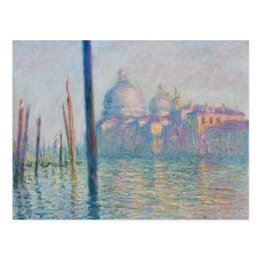 The Grand Canal by Monet Post Cards