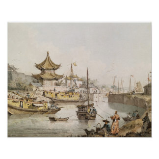 The Grand Canal, China, (w/c) Poster