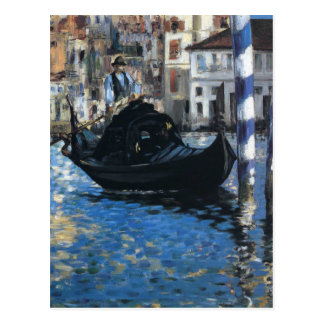 The grand canal of Venice by Edouard Manet Postcard