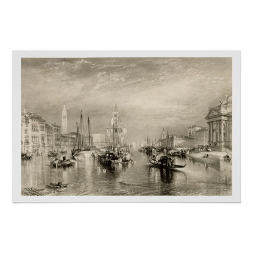 The Grand Canal, Venice, engraved by William Mille Posters