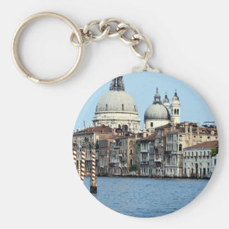 The Grand Canal, Venice, Italy Basic Round Button Key Ring
