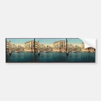 The Grand Canal with the Rialto Bridge, Venice, It Bumper Stickers