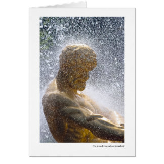 The Grand Cascade at Peterhof Card
