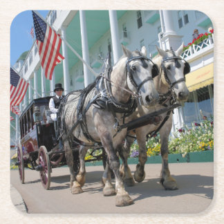 The Grand Hotel - Mackinac Island, Michigan Square Paper Coaster